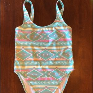 Chubbies One-piece Swimsuit: The Oasis